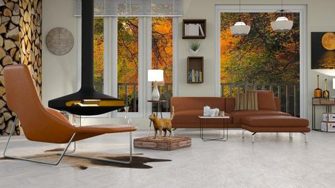 Aspen Chalet Template - Living room - by milyca8