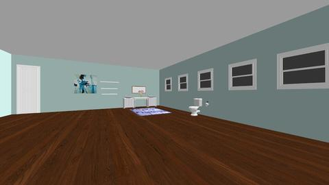 Blue Powder Room - Bathroom - by Fixer Upper Rules