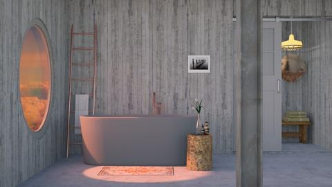 Grey and rose gold bath  - by HenkRetro1960