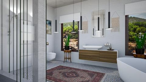 bohe bath - Modern - Bathroom - by zayneb_17