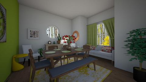 spring green dining room - Dining room - by Seattle2424