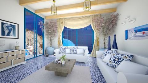 living room greece - Living room - by Szilvia94