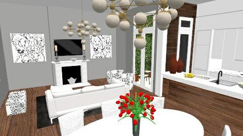 YellowMoonDining1 - Living room - by Yellow Moon Design