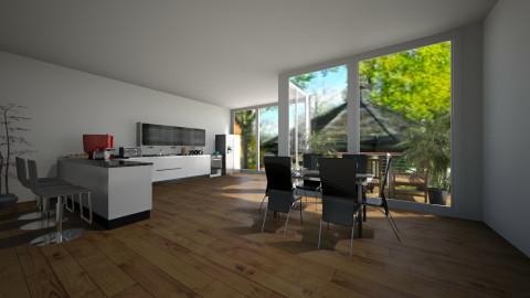 black kitchen - Modern - Dining room - by Savina Ivanova