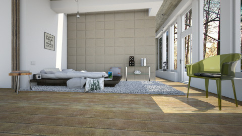 K_I_S_S - Minimal - Bedroom - by evahassing