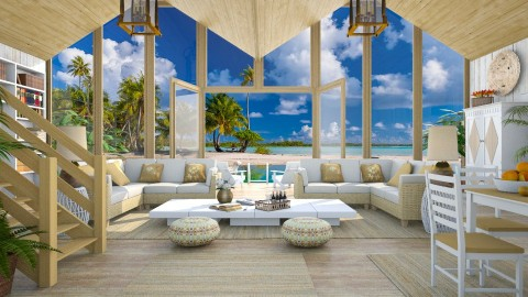 Design 294 Beach House Paradise - Living room - by Daisy320