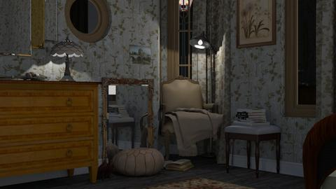 reading corner - Vintage - Living room - by HenkRetro1960