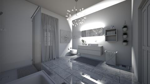 White Modern Bathroom - Modern - Bathroom - by Sunshine Girl