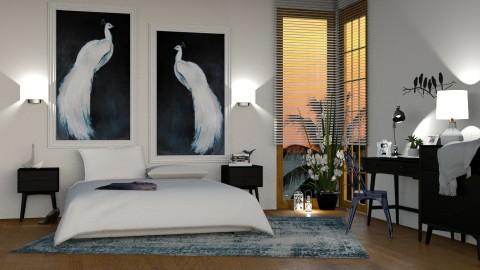 White Peacocks - by DeborahArmelin