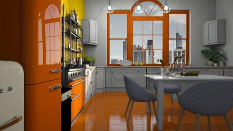 Yellow_Orange_Kitchen - by ZuzanaDesign