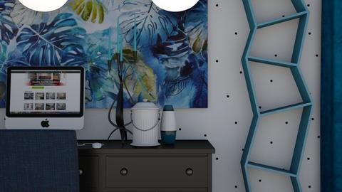 Blue Office  - Modern - Office - by XiraFizade