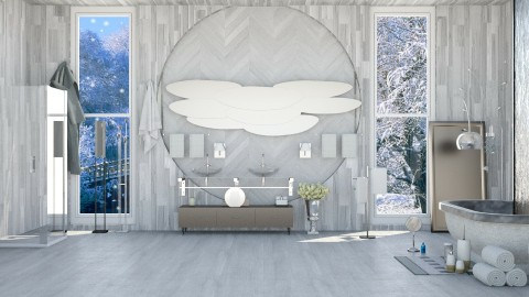 Modern Winter  Bath  - Modern - Bathroom - by InteriorDesigner111