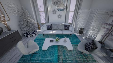 White Christmas Star - Living room - by edDesign