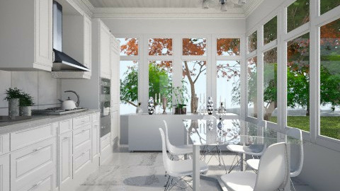 White Kitchen - Classic - Kitchen - by JazzyAllen