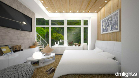 Calm Vibe Of Nature - Modern - Bedroom - by KRdesign