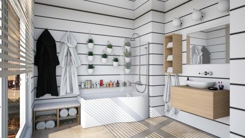 Stripes - Bathroom - by Lizzy0715