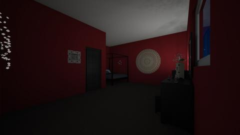 Black and Red - Modern - Bedroom - by Faolan