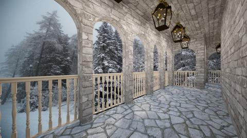 Castle Colonnade or Balcony - by SammyJPili