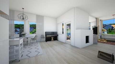 Swedish Suburbs - Living room - by nelly_wreland