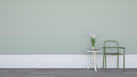 Chair Table Flower Book - Minimal - Living room - by HenkRetro1960
