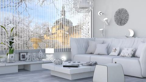 M_ White Bp - Living room - by milyca8