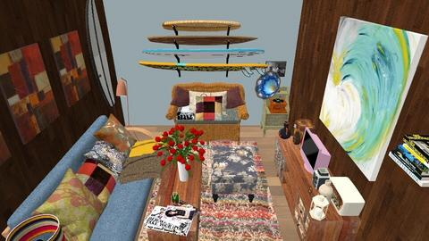Surf Culture Living - Retro - Living room - by LexieB123