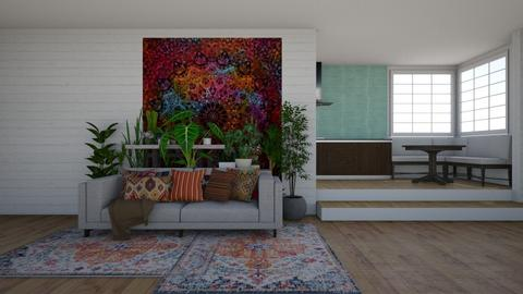 bohemian - Living room - by rickglassinteriors
