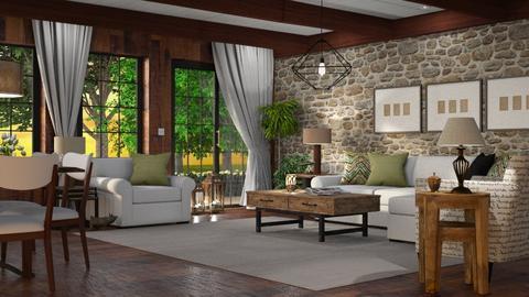Old Bones - Living room - by GraceKathryn
