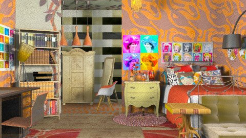 pop teen bedroom - Retro - Bedroom - by Ariadne491