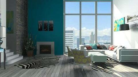 depto industrial - Retro - Living room - by Joseph Espinoza