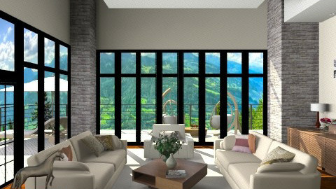 Treatments tall windows - Modern - Living room - by anjuska9