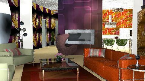Modern retro - Retro - Living room - by bizarrrr