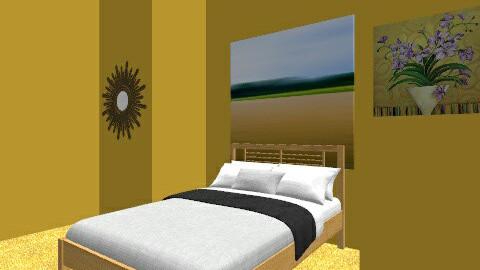 yellow - Bedroom - by horsegirl1234