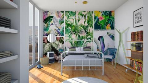 Bit tropical - Minimal - Bedroom - by aniachoynowska