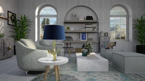 Blue_Lamp - Living room - by ZuzanaDesign