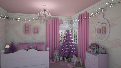 Pretty Pink Christmas - Kids room - by creato