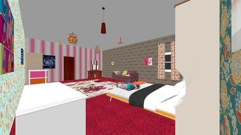 colourful bedroom - Eclectic - Bedroom - by ellie_cowenxx