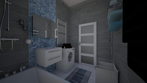 Blue Justine - Bathroom - by Marta Perkowska