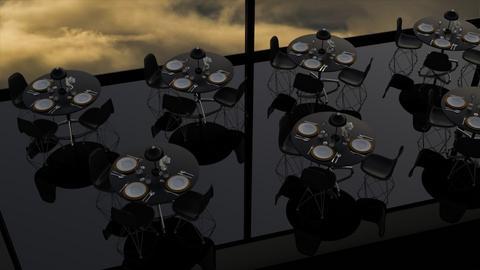 Restaurant in the sky - Minimal - Dining room - by HenkRetro1960