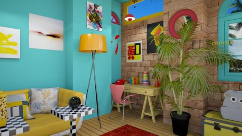 eclectic office  - Modern - Office - by zayneb_17