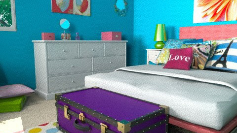 Trunks_bright bedroom - Eclectic - Bedroom - by mydeco_Jo
