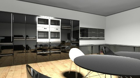 Black n white  - Kitchen - by DesignJA
