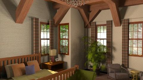 cabin - Rustic - Bedroom - by dsn8012