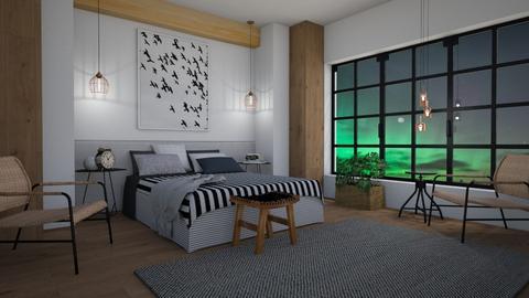 Scandinavian sleeping - Bedroom - by Tuija