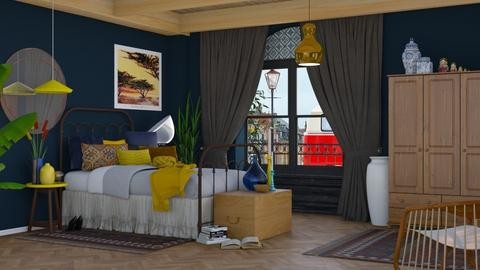 Cozy Blue - Modern - Bedroom - by HenkRetro1960