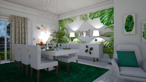 dressed in green - Dining room - by matina1976