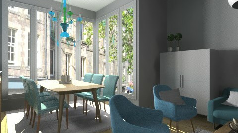 Oak and turquoise - Modern - Living room - by Tuija
