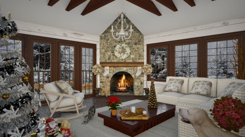 Design 236 Christmas in the Country - Living room - by Daisy320