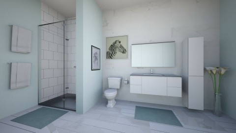 Little Aqua Bathroom - Eclectic - Bathroom - by millerfam