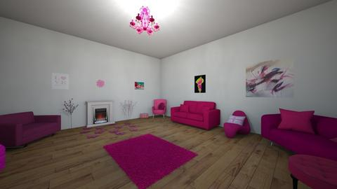 yuck pink - Living room - by khayla simpson